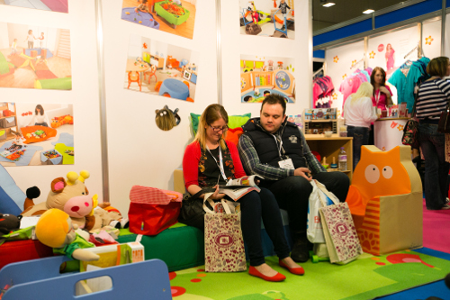 Visitors enjoying the products on offer