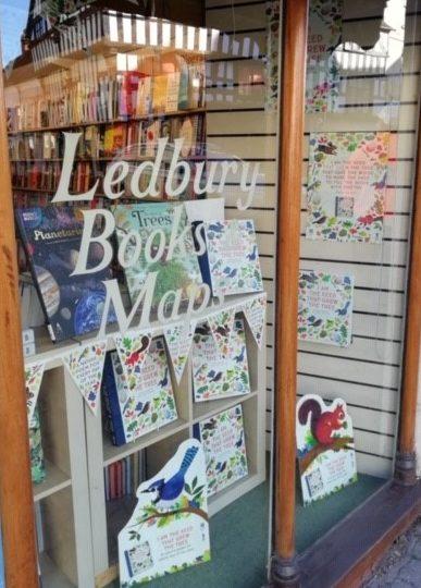 Bookshop window display