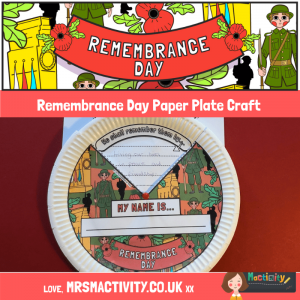 Mrs Mactivity - Remembrance day paper plate craft