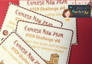 Chinese new year stem challenge cards