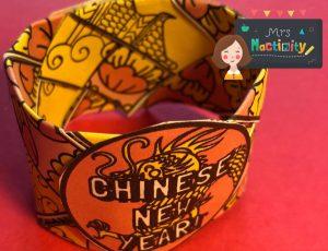 Mrs mactivity - Chinese new year weave bracelet