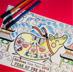 Mrs mactivity - chinese new year colouring